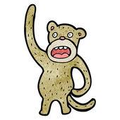 Cartoon monkey scratching it's butt — Vector de stock