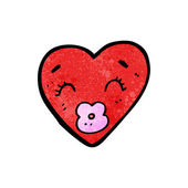 Dibujos animados de corazón besos — Vector de stock
