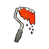 Cartoon paint roller — Stock Vector