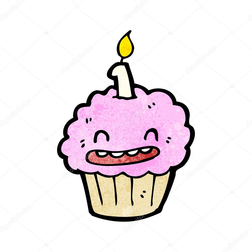 Dibujos animados de torta de la taza de feliz cumplea os - Feliz cumpleanos infantil animado ...