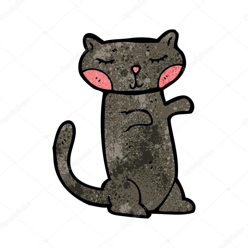 Cartone animato gatto nero — vettoriali stock