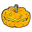 Pumpkin cartoon - Stock Vector
