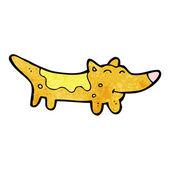 Yellow dog cartoon — Stock Vector