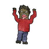 Terrified man cartoon — Stock Vector