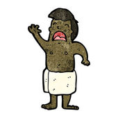 Man in towel cartoon — Vettoriale Stock