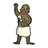 Man in towel cartoon — Stock Vector