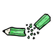 Snapped pencil cartoon — Stock Vector