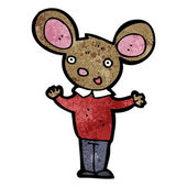 Mouse in clothes cartoon — Stock Vector