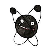 Dark matter particle cartoon — Stock Vector