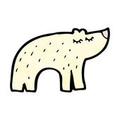 Pretty polar bear cartoon — Stock vektor