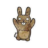 Silly rabbit cartoon — Stock Vector