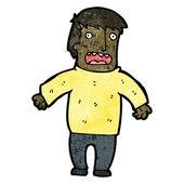 Gasping man cartoon — Stock Vector