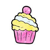 Caricature de petit gâteau de fête — Vecteur