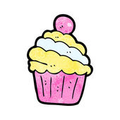 Partij cupcake cartoon — Stockvector