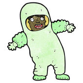 Man in radiation suit cartoon — Stock Vector