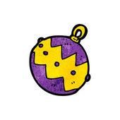 Purple Xmas Bauble — Stock Vector