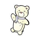 Polar bear teddy cartoon — Stock Vector