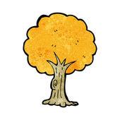 Cartoon tree in fall — Stock Vector