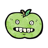 Cartoon Of A Green Apple Mascot — Stock Vector
