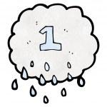 Cartoon raincloud number one — Stock Vector