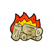 Burning logs cartoon — Stock Vector #21529395