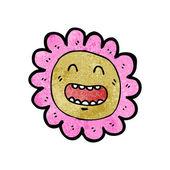 çiçek face karikatür — Stok Vektör