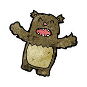 Funny bear cartoon — Stock Vector