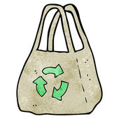 Cartoon recycled bag — Stock Vector