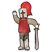 Waving knight cartoon (raster version) — Wektor stockowy