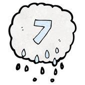 漫画 raincloud 番号 7 — ストックベクタ