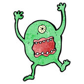Cartoon scary monster — Stock Vector