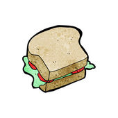 Sandwich cartoon (raster versie) — Stockvector