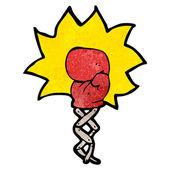 Boxing glove punch cartoon (raster version) — Vetor de Stock