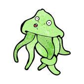 Funny cartoon squid (raster version) — Stock Vector