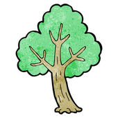 Tree With Green Foliage — Stock Vector