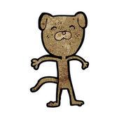 Perro flaco de dibujos animados — Vector de stock