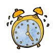 Stock Vector: Cartoon alarm clock
