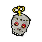 Robot skull cartoon — Stock Vector