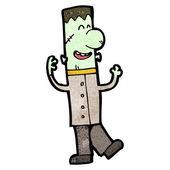 友好科学怪人怪物卡通 — 图库矢量图片