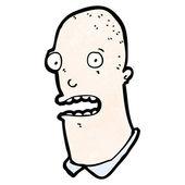 Shocked cartoon bald man — Stock Vector