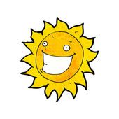 Grinning sun cartoon — Stock Vector