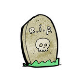 Gravestone cartoon — Stock Vector