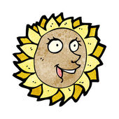 Cartoon sunflower — Stock Vector