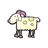Happy goat cartoon — Stock Vector