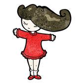 Cartoon pretty girl — Stock Vector