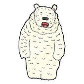 White Polar Bear — Stock Vector