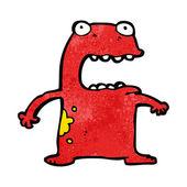 Fantasy Cartoon Of A Red Monster Or Alien — Stock Vector
