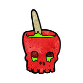 Red Skull Cauldron — Stock Vector