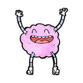 Happy pink cloud creature — Stock Vector