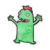 Happy amphibian creature cartoon — Stock Vector